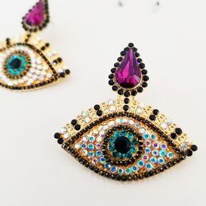 Evil Eye Festival Statement Earrings